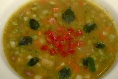 Receita - Sopa de Legumes do Jornal Hoje - Minestrone
