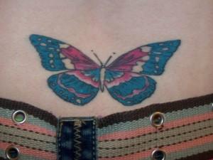 Tatuagem de Borboleta - Coccix  2