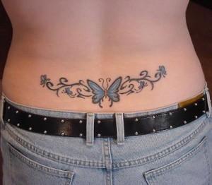 Tatuagem de Borboleta - Coccix 3