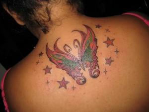 Tatuagem de Borboleta - Costas