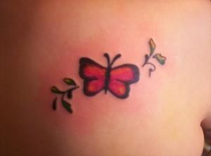 Tatuagem de Borboleta - Costas Pequena