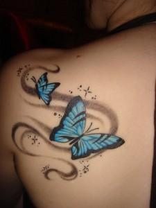 Tatuagem de Borboleta - Ombro - Costas 2