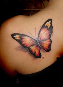 Tatuagem de Borboleta - Ombro - Costas