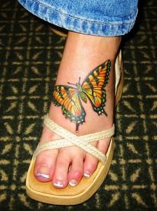 Tatuagem de Borboleta - Pe - 2