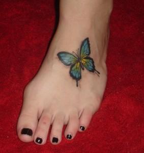 Tatuagem de Borboleta - Pe