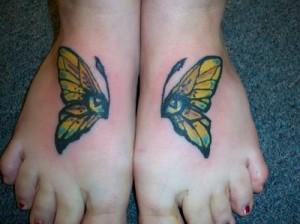 Tatuagem de Borboleta - Pe - 4