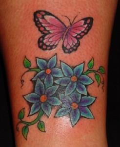 Tatuagem de Borboleta - Tornozelo 2