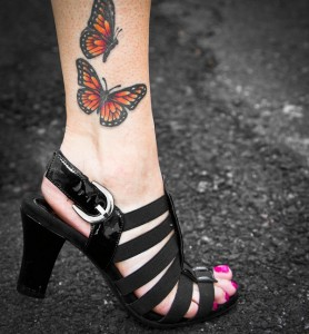Tatuagem de Borboleta - Tornozelo