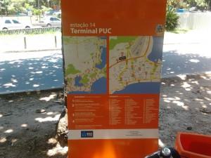 Bike Rio Estação Puc - Placa