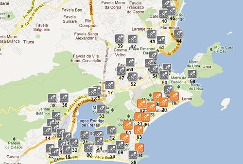 Mapa de Localização - Bike Rio