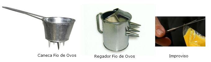utensílios para fio de ovos