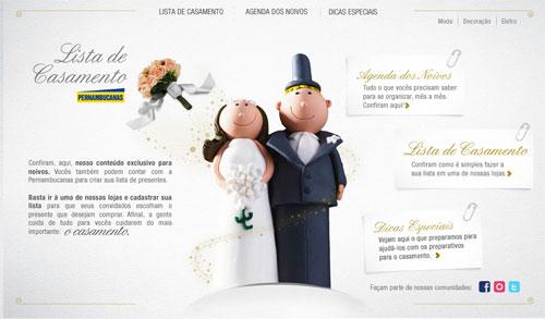 Lista de Casamento site Pernambucanas