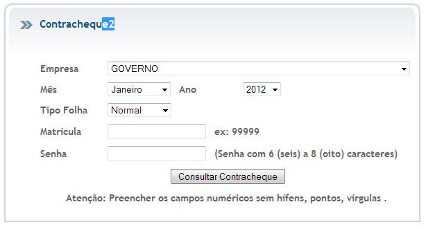 Portal do Servidor PE - Contra Cheque, Consulta e Validação