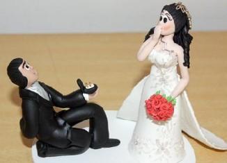 Noivinhos para Bolo de Casamento