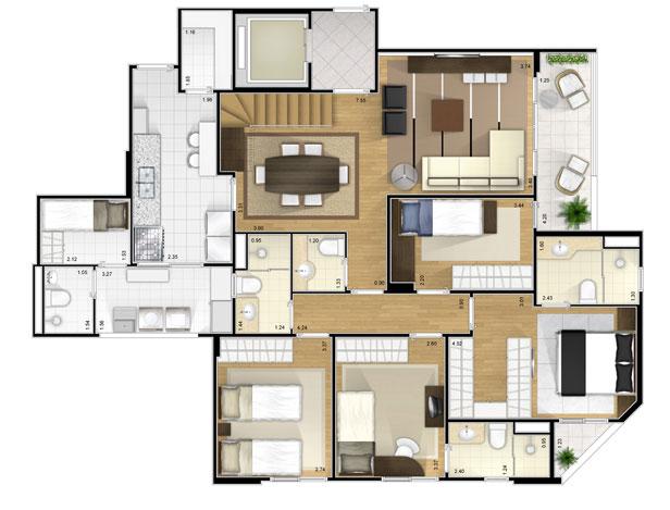 Plantas de casas modernas modelos projetos for Casa moderna gratis