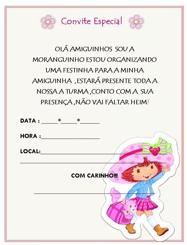 Convites De Aniversario Infantil Para Imprimir