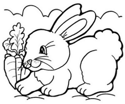 Desenhos De Coelho Da Pascoa Para Colorir E Imprimir