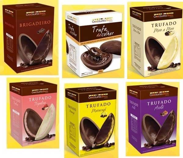 Ovos de Páscoa Chocolates Brasil Cacau 2013