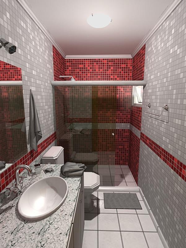 Banheiros pequenos decorados fotos for Fotos de apartamentos bonitos