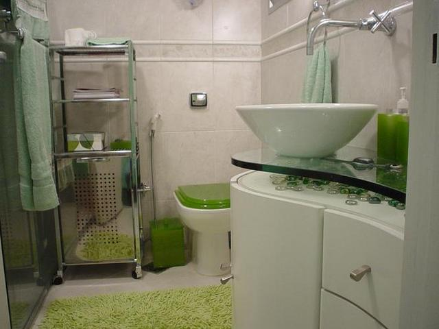 Banheiros Pequenos Decorados – Fotos -> Decoracao De Banheiro Com Pastilhas Fotos