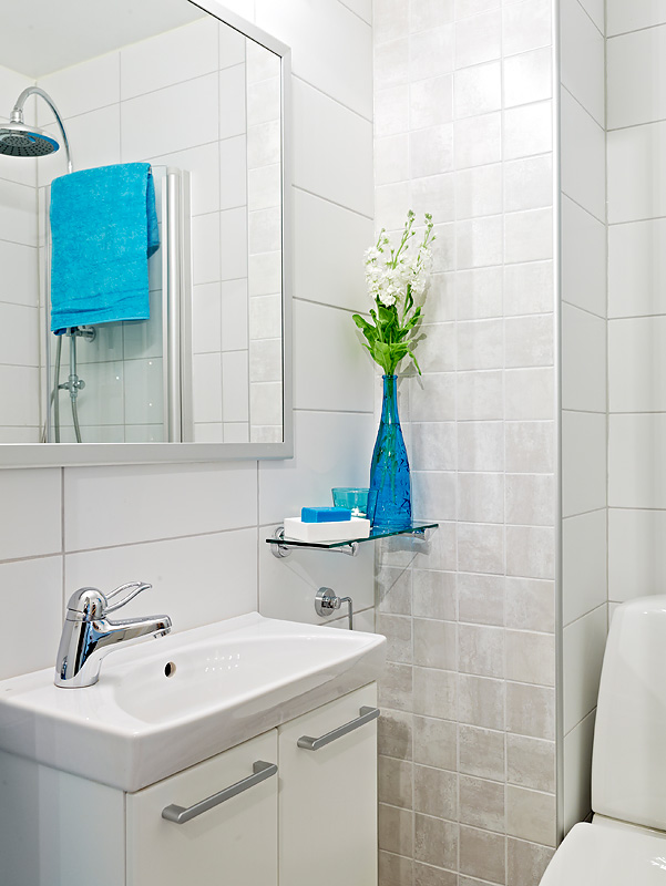 Banheiros Pequenos Decorados – Fotos -> Decoracao Para Banheiro Pequeno Simples