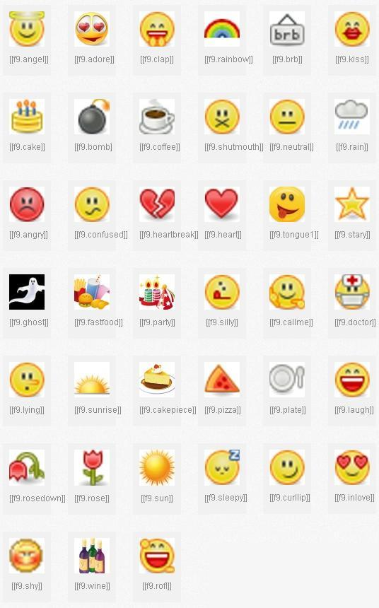 Lista de Novos Emoticons para Facebook