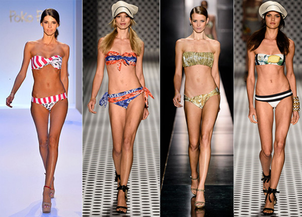 Os biquínis tomara que caia são tendências da moda verão 2014. (Foto: Divulgação)