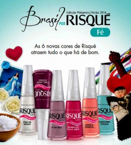 Esmaltes Risqué Primavera Verão 2014 – Brasil por Risqué Fé
