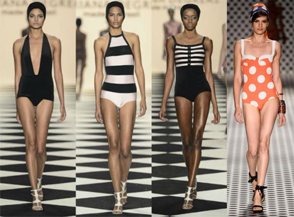 O estilo retrô está presente na moda praia 2014. (Foto: Divulgação)