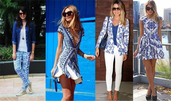 As roupas com estampas de azulejos são o hit do verão. (Foto: Divulgação)