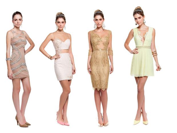 Os vestidos curtos para réveillon são a tendência do verão 2014. (Foto: Divulgação)